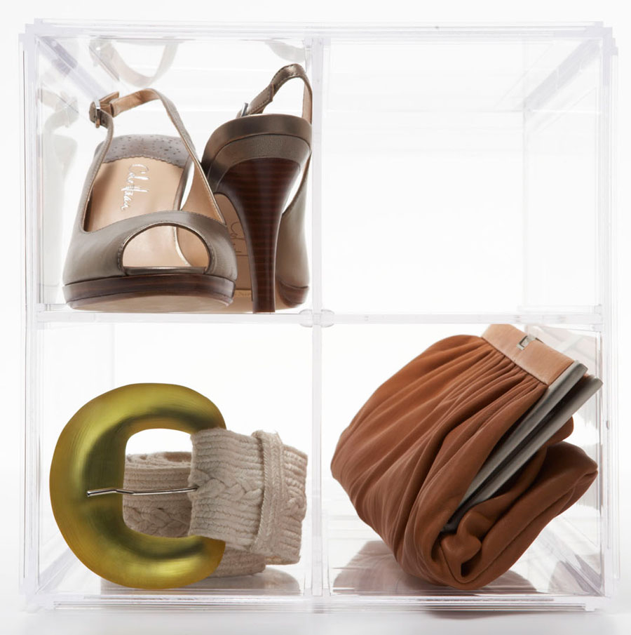 Adjustable Shoe And Handbag Storage Cube Aberdeen Plastics